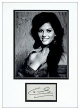 Claudia Cardinale Autograph Signed Display